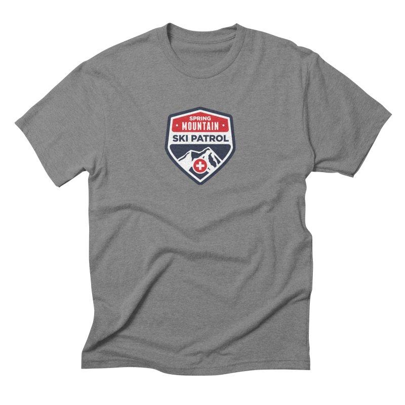 Spring Mountain Ski Patrol in Men's Triblend T-Shirt Grey Triblend by Walters Media & Design
