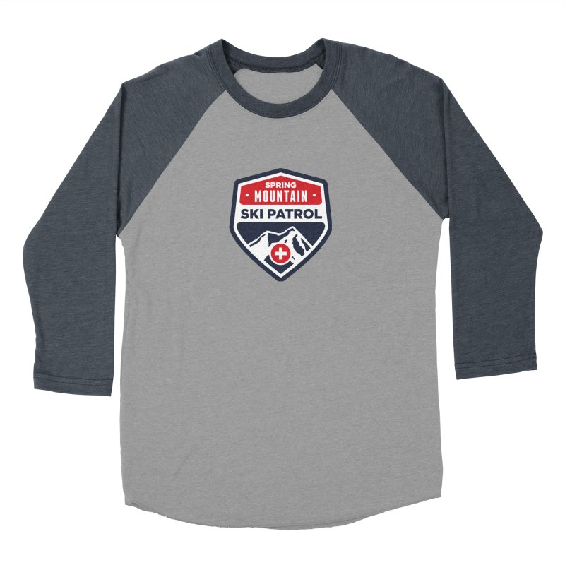Spring Mountain Ski Patrol Men's Baseball Triblend T-Shirt by Walters Media & Design