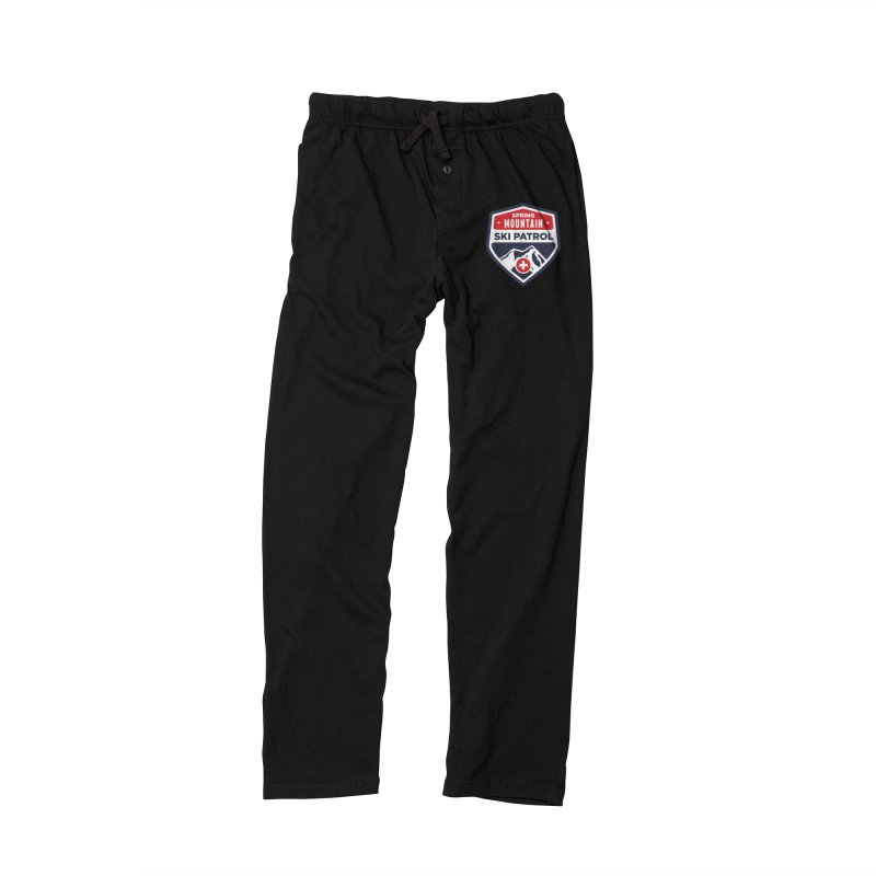 Spring Mountain Ski Patrol in Men's Lounge Pants Black by Walters Media & Design