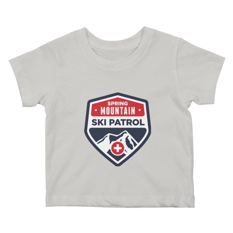 Spring Mountain Ski Patrol Kids Baby T-Shirt by Walters Media & Design