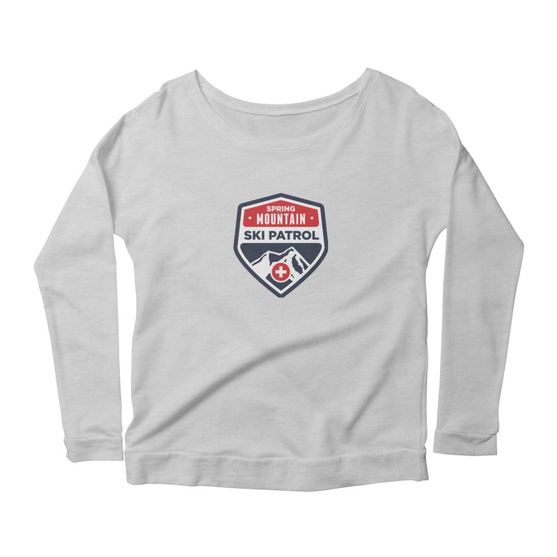 Spring Mountain Ski Patrol Women's Longsleeve Scoopneck  by Walters Media & Design