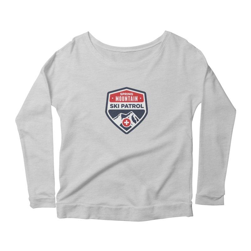Spring Mountain Ski Patrol Women's Scoop Neck Longsleeve T-Shirt by Walters Media & Design