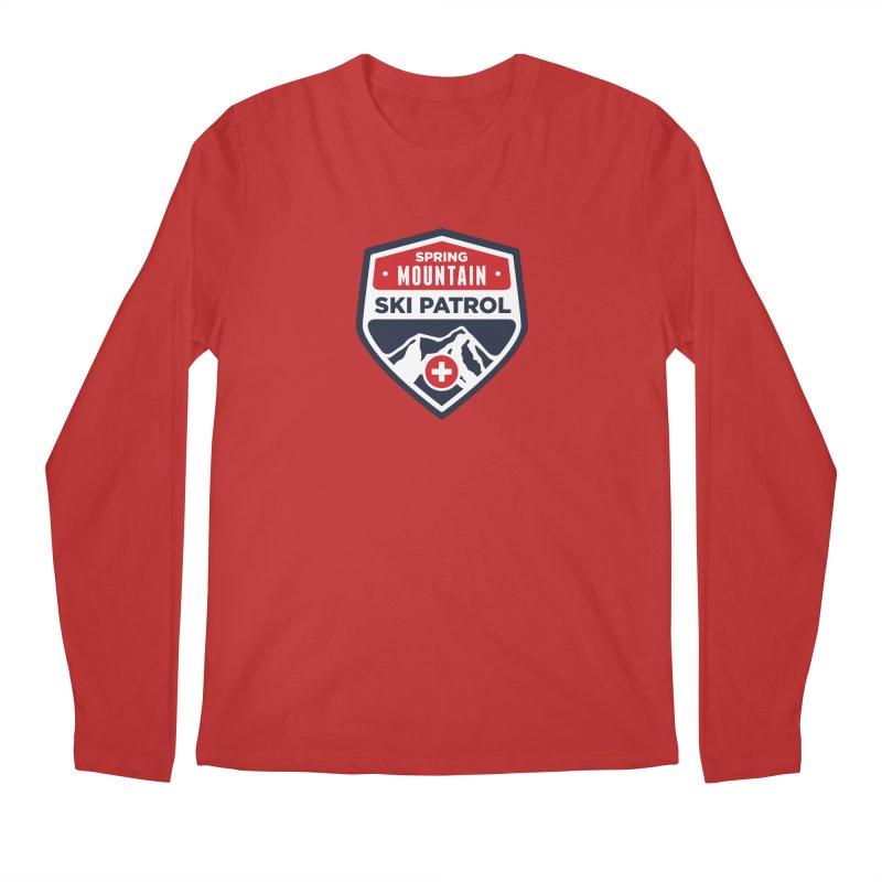 Spring Mountain Ski Patrol in Men's Regular Longsleeve T-Shirt Red by Walters Media & Design