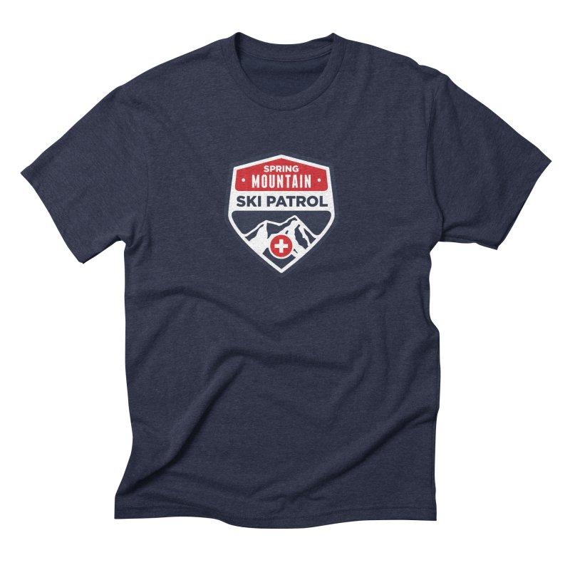 Spring Mountain Ski Patrol in Men's Triblend T-Shirt Navy by Walters Media & Design