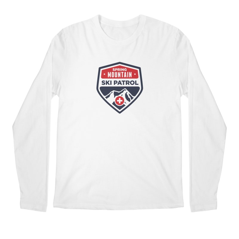 Spring Mountain Ski Patrol in Men's Regular Longsleeve T-Shirt White by Walters Media & Design