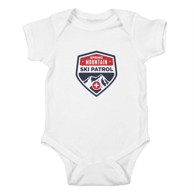 Spring Mountain Ski Patrol Kids Baby Bodysuit by Walters Media & Design