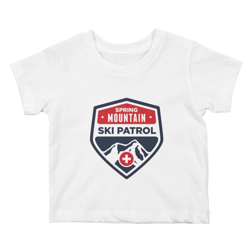 Spring Mountain Ski Patrol Kids Baby T-Shirt by Walters Media & Design