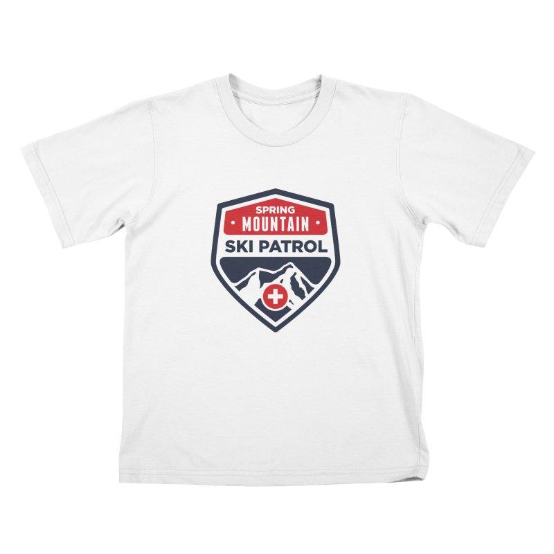 Spring Mountain Ski Patrol Kids T-Shirt by Walters Media & Design