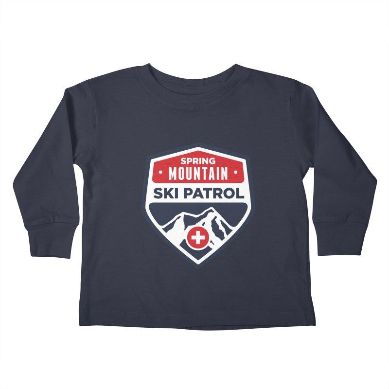 Spring Mountain Ski Patrol Kids Toddler Longsleeve T-Shirt by Walters Media & Design