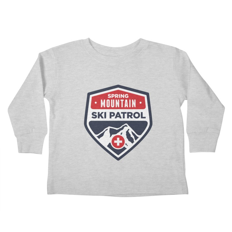 Spring Mountain Ski Patrol Kids Toddler Longsleeve T-Shirt by Walters Media & Design