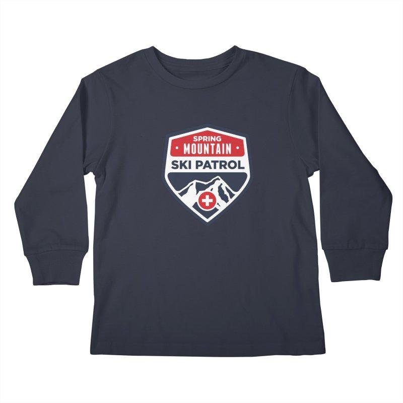 Spring Mountain Ski Patrol Kids Longsleeve T-Shirt by Walters Media & Design