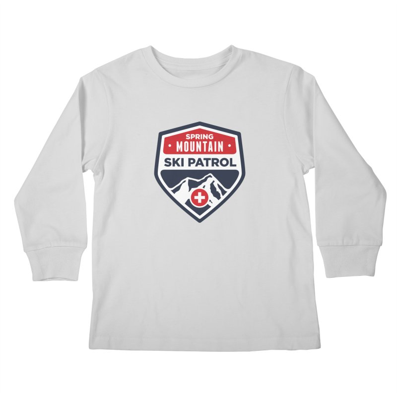Spring Mountain Ski Patrol Kids Longsleeve T-Shirt by Walters Media & Design