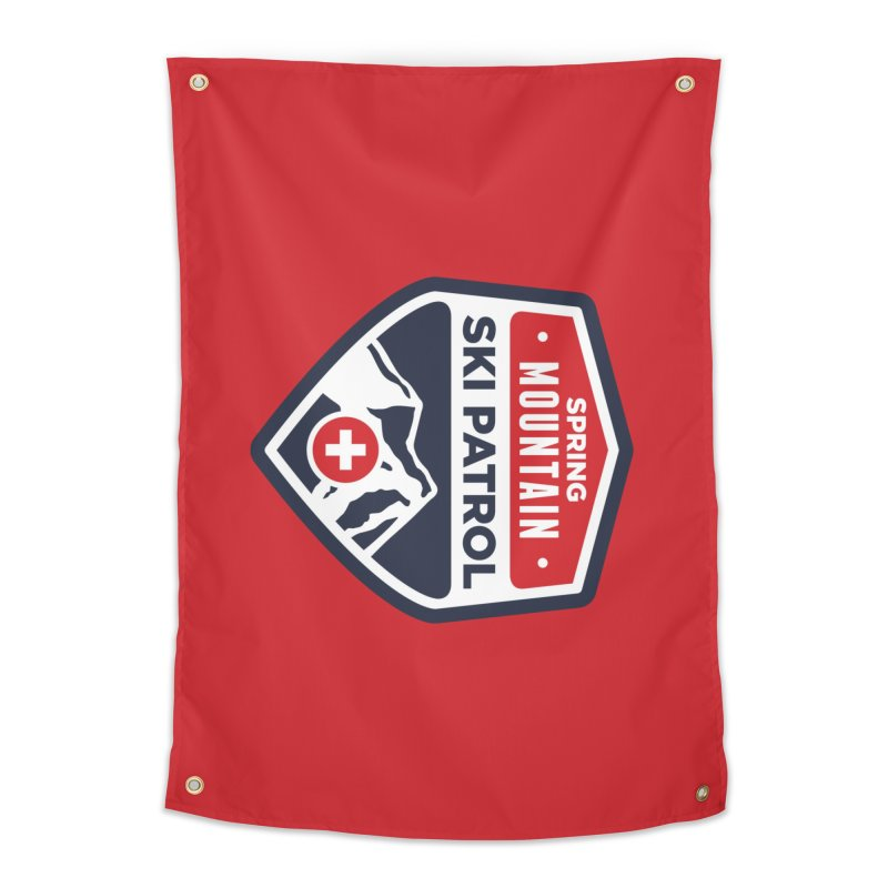 Spring Mountain Ski Patrol in Tapestry by Walters Media & Design
