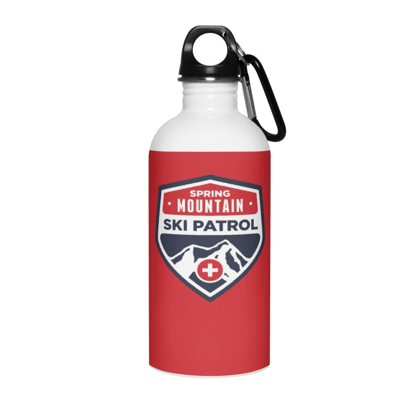 Spring Mountain Ski Patrol in Water Bottle by Walters Media & Design