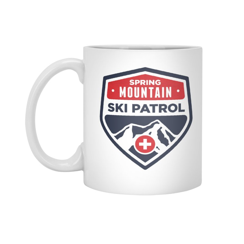 Spring Mountain Ski Patrol Classic Logo Accessories Standard Mug by Walters Media & Design