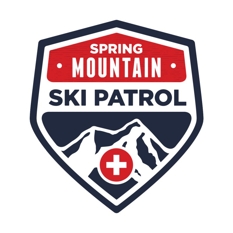 Spring Mountain Ski Patrol Classic Logo Accessories Mug by Walters Media & Design
