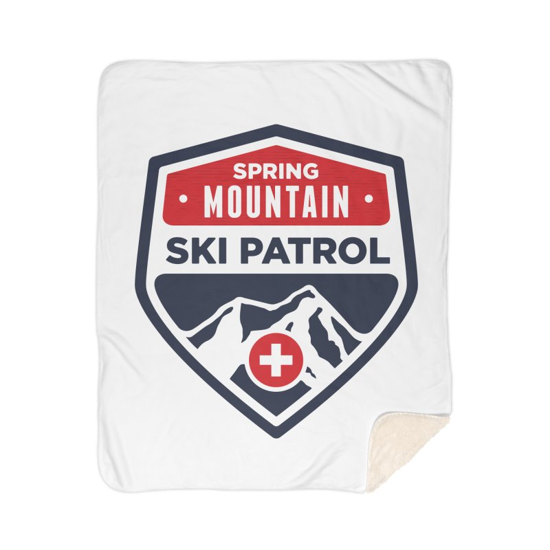 Spring Mountain Ski Patrol Classic Logo Home Sherpa Blanket Blanket by Walters Media & Design