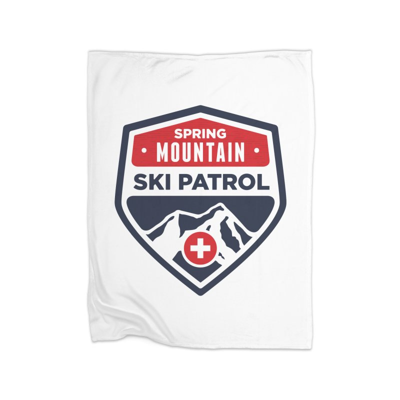 Spring Mountain Ski Patrol Classic Logo Home Fleece Blanket Blanket by Walters Media & Design