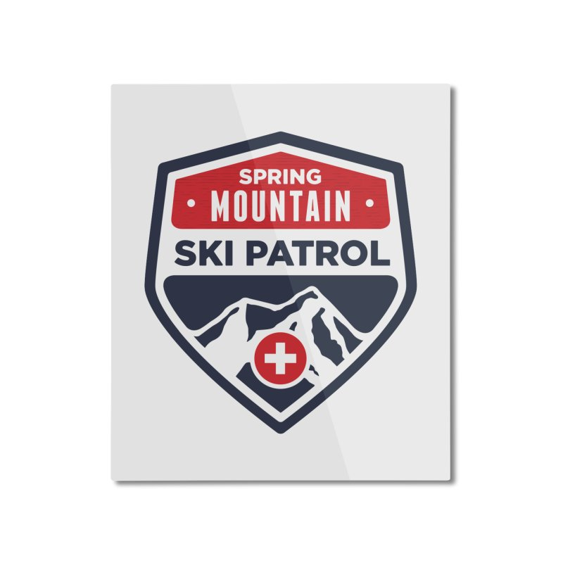 Spring Mountain Ski Patrol Classic Logo Home Mounted Aluminum Print by Walters Media & Design