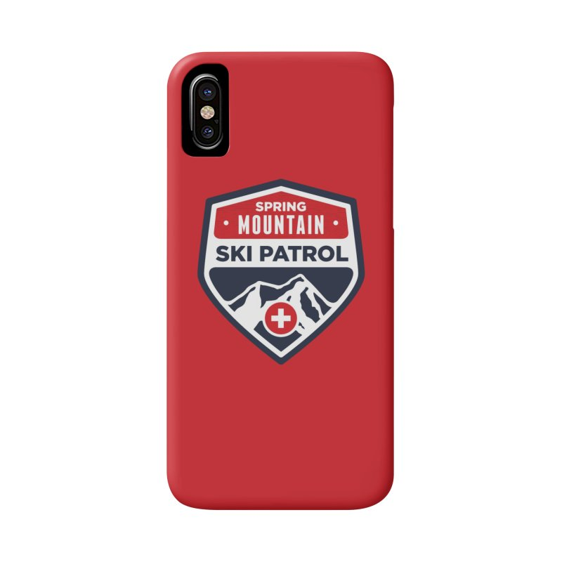 Spring Mountain Ski Patrol Classic Logo Accessories Phone Case by Walters Media & Design