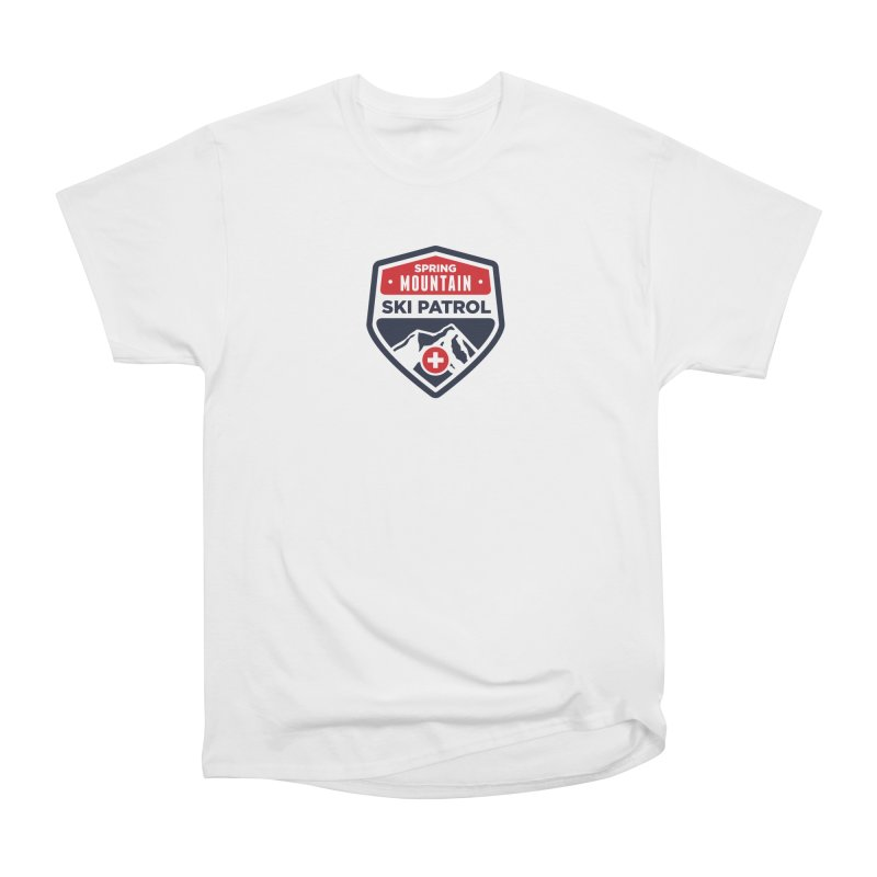Spring Mountain Ski Patrol Classic Tee in Men's Classic T-Shirt White by Walters Media & Design