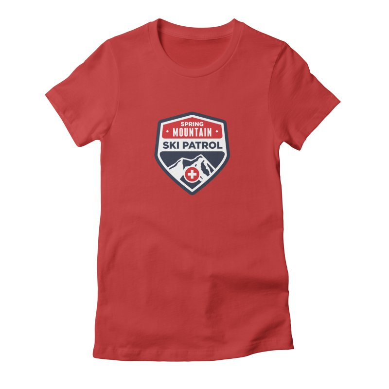 Spring Mountain Ski Patrol Classic Tee Women's Fitted T-Shirt by Walters Media & Design