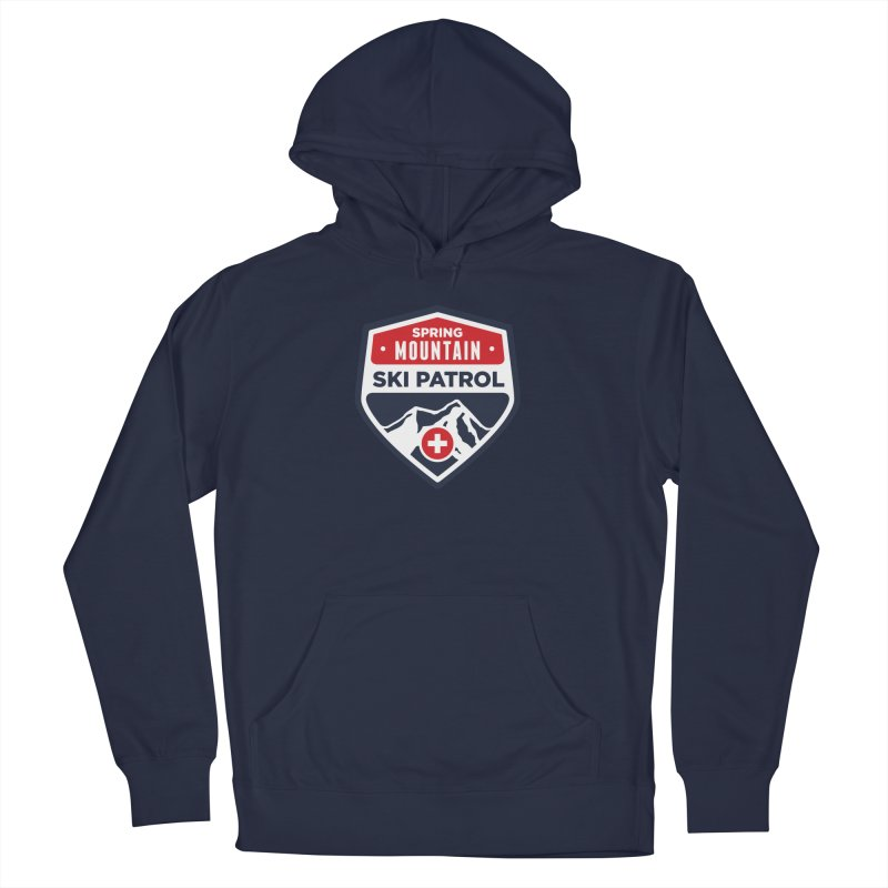 Spring Mountain Ski Patrol Classic Tee Men's French Terry Pullover Hoody by Walters Media & Design