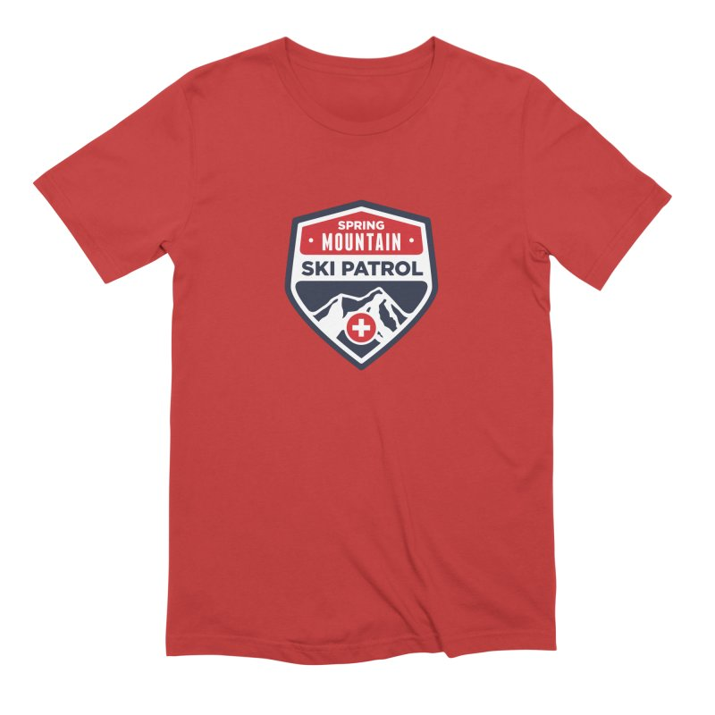 Spring Mountain Ski Patrol Classic Logo Men's Extra Soft T-Shirt by Walters Media & Design