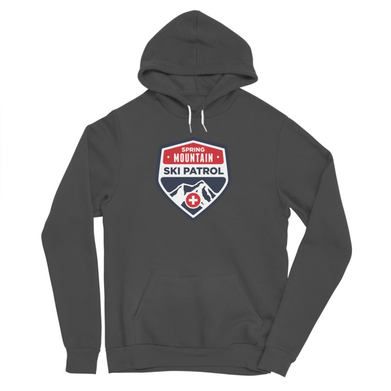 Spring Mountain Ski Patrol Classic Logo Men's Sponge Fleece Pullover Hoody by Walters Media & Design