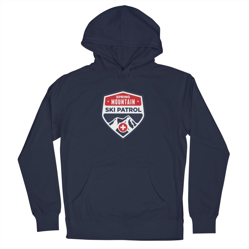 Spring Mountain Ski Patrol Classic Logo Men's French Terry Pullover Hoody by Walters Media & Design