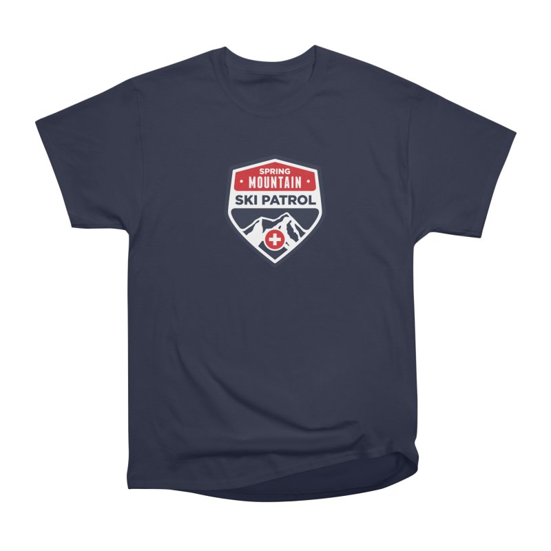 Spring Mountain Ski Patrol Classic Logo Men's Heavyweight T-Shirt by Walters Media & Design