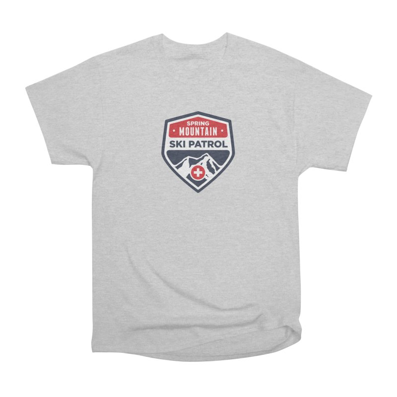 Spring Mountain Ski Patrol Classic Logo Women's Heavyweight Unisex T-Shirt by Walters Media & Design