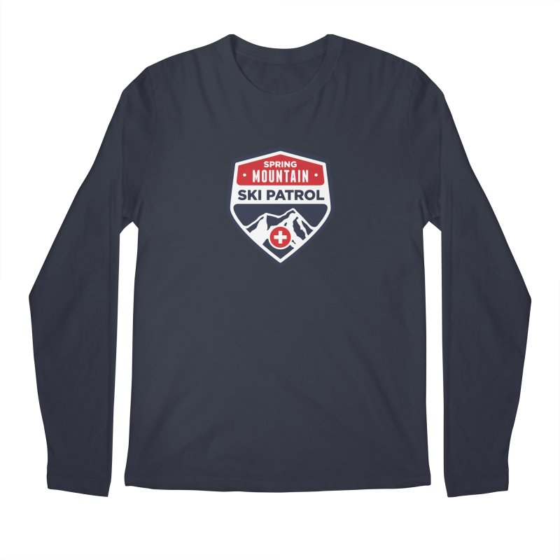 Spring Mountain Ski Patrol Classic Logo Men's Regular Longsleeve T-Shirt by Walters Media & Design