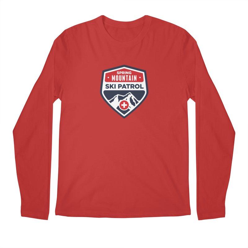 Spring Mountain Ski Patrol Classic Logo Men's Regular Longsleeve T-Shirt by Walters Media & Design