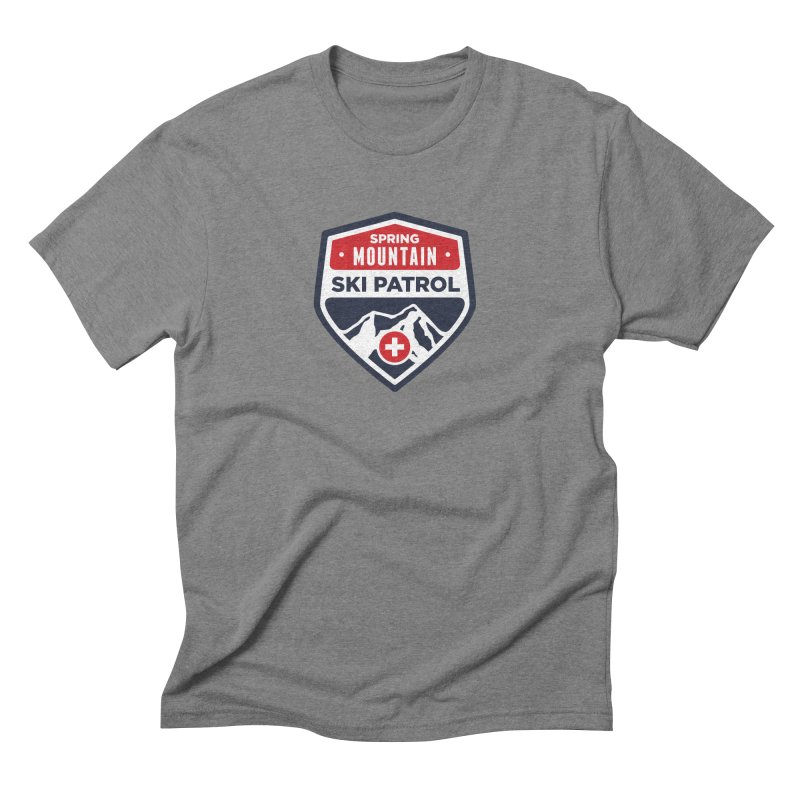 Spring Mountain Ski Patrol Classic Logo Men's Triblend T-Shirt by Walters Media & Design