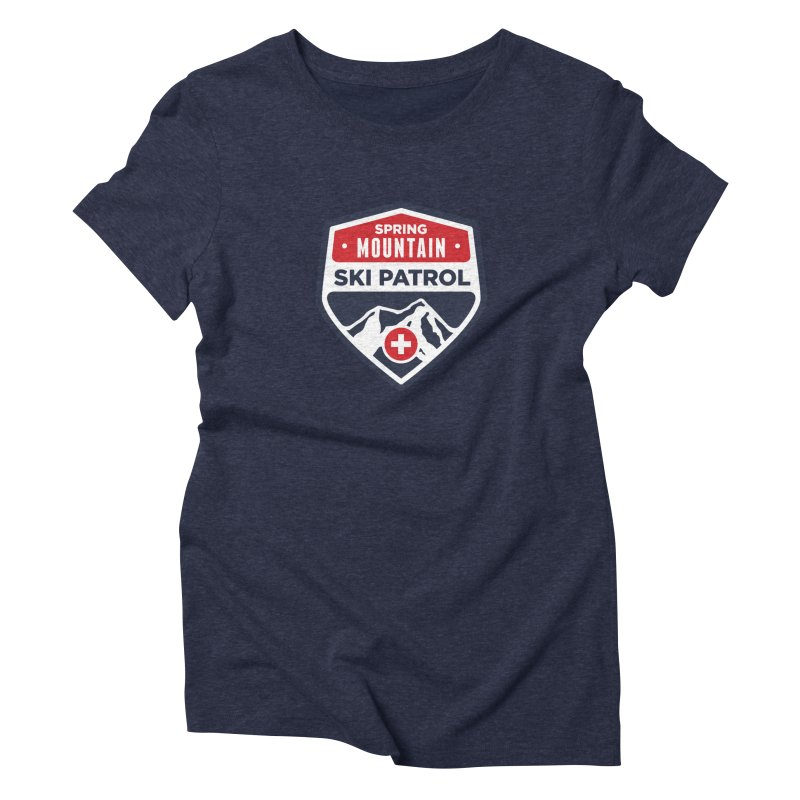 Spring Mountain Ski Patrol Classic Logo Women's Triblend T-Shirt by Walters Media & Design