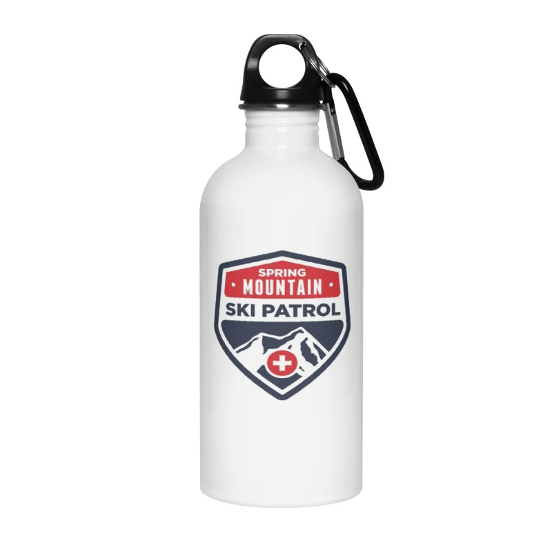 Spring Mountain Ski Patrol Classic Tee Accessories Water Bottle by Walters Media & Design