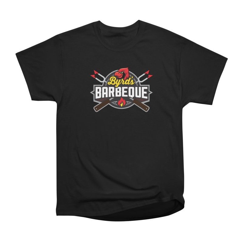 Byrds BBQ in Men's Heavyweight T-Shirt Black by Walters Media & Design