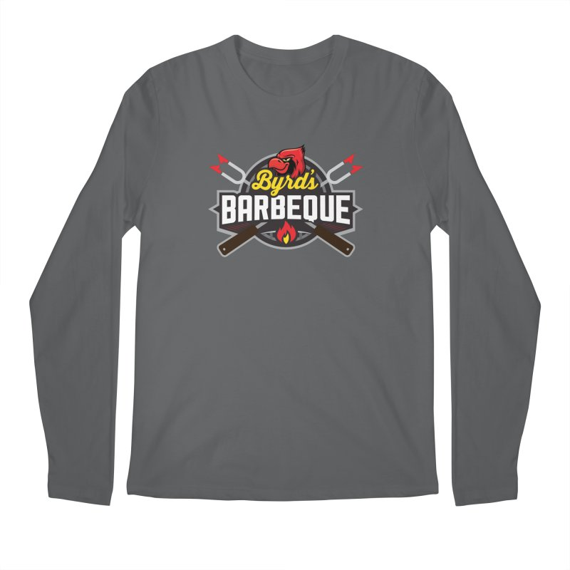 Byrds BBQ in Men's Regular Longsleeve T-Shirt Heavy Metal by Walters Media & Design