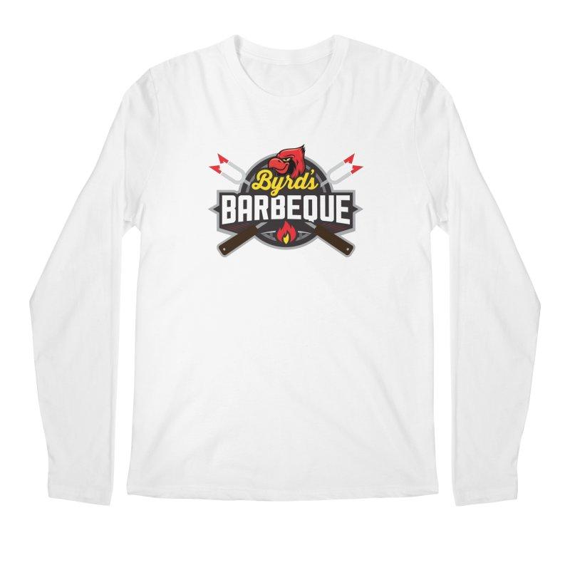 Byrds BBQ in Men's Regular Longsleeve T-Shirt White by Walters Media & Design