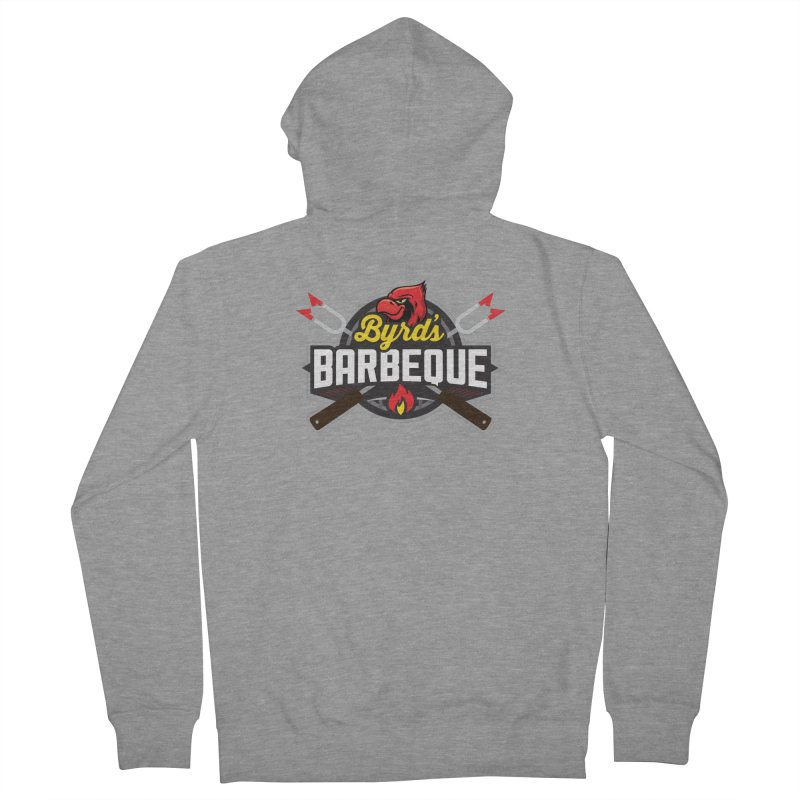 Byrds BBQ Men's French Terry Zip-Up Hoody by Walters Media & Design