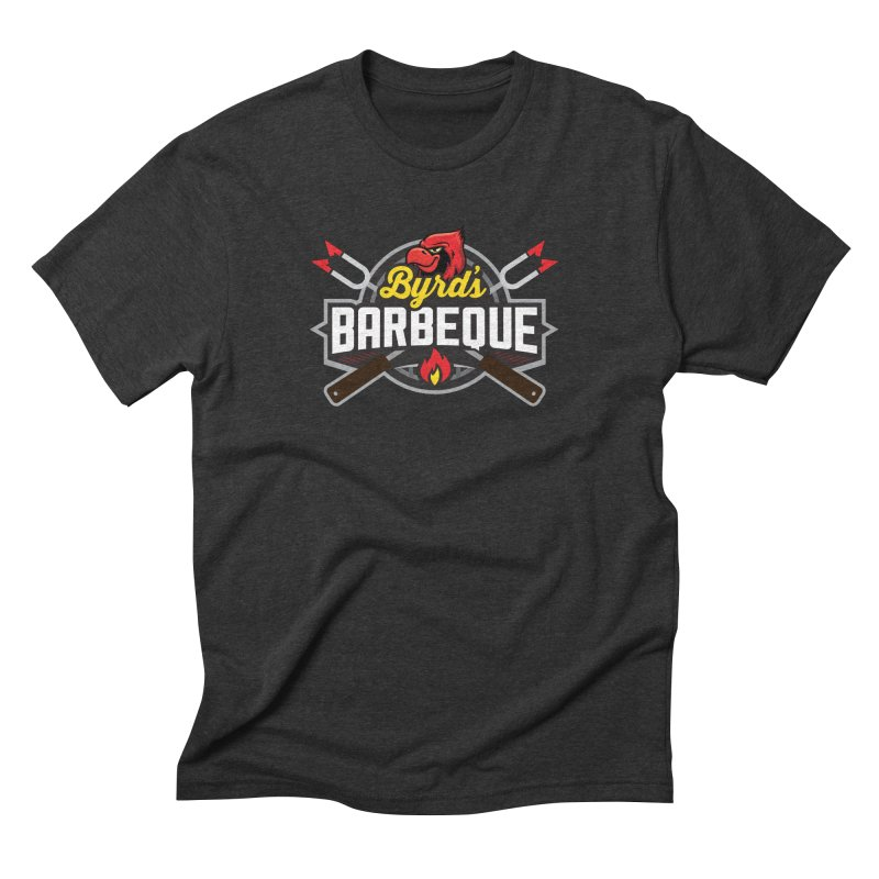 Byrds BBQ in Men's Triblend T-Shirt Heather Onyx by Walters Media & Design