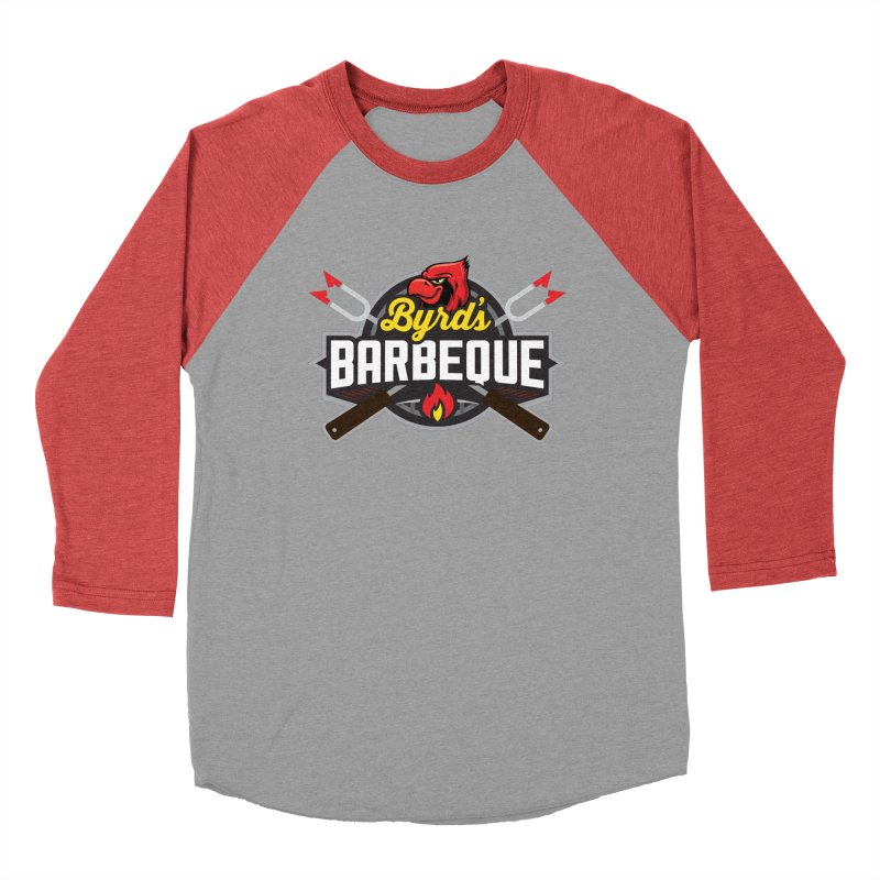 Byrds BBQ Men's Baseball Triblend Longsleeve T-Shirt by Walters Media & Design