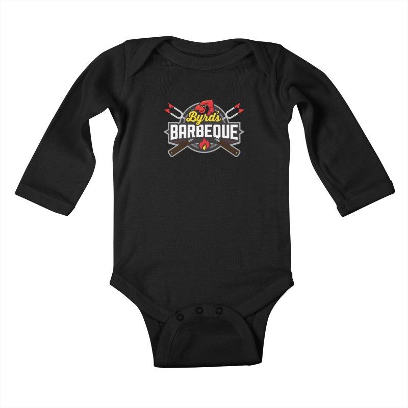 Byrds BBQ Kids Baby Longsleeve Bodysuit by Walters Media & Design