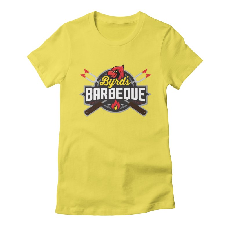 Byrds BBQ Women's Fitted T-Shirt by Walters Media & Design