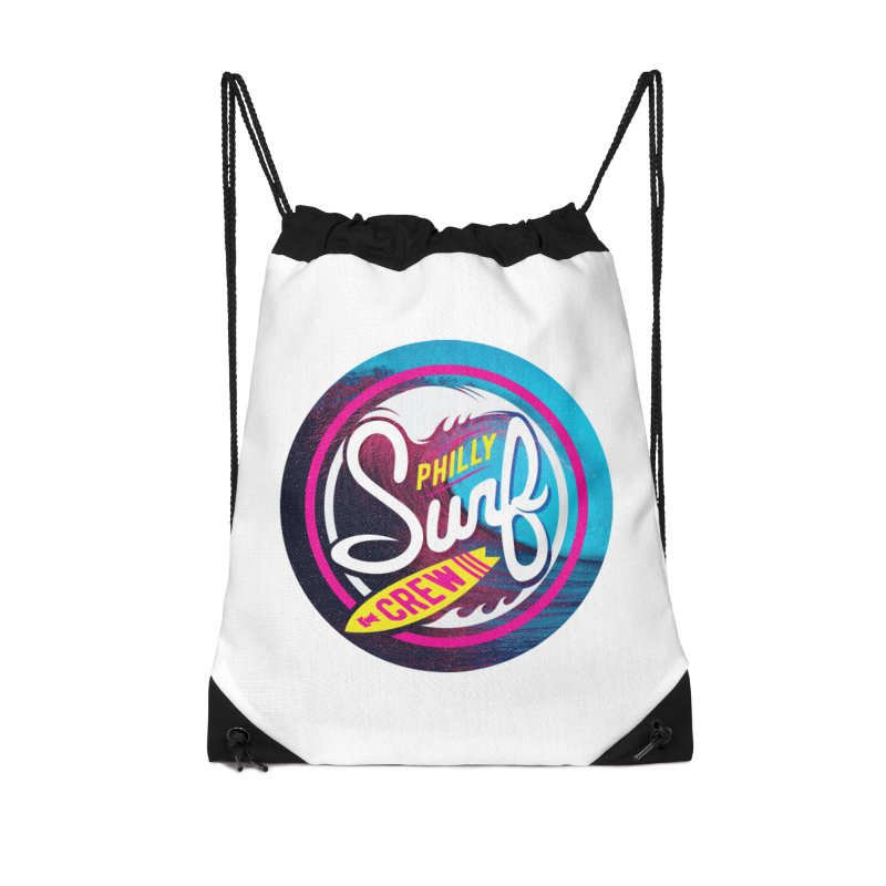 PSC 80s neon in Drawstring Bag by Walters Media & Design