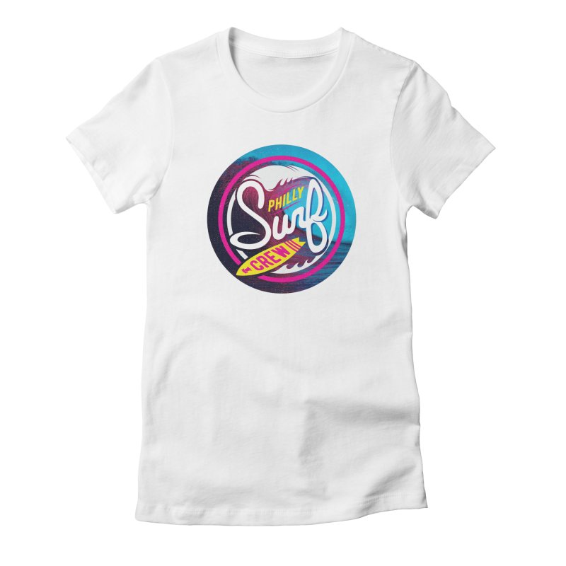 PSC 80s neon Women's Fitted T-Shirt by Walters Media & Design