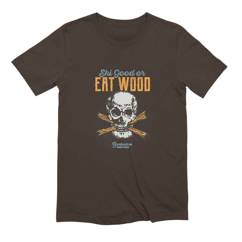 Barkeaters Anonymous – Ski Good! Men's Extra Soft T-Shirt by Walters Media & Design