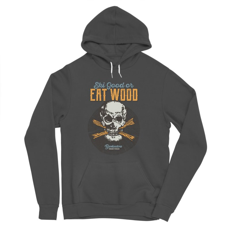 Barkeaters Anonymous – Ski Good! in Men's Sponge Fleece Pullover Hoody Charcoal by Walters Media & Design