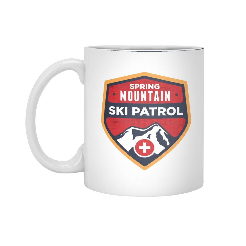 Spring Mountain Ski Patrol Reverse Accessories Standard Mug by Walters Media & Design